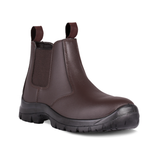 DOT Chelsea Safety Boot Brown